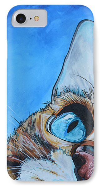 Cat iPhone 7 Case - Peek A Boo by Patti Schermerhorn