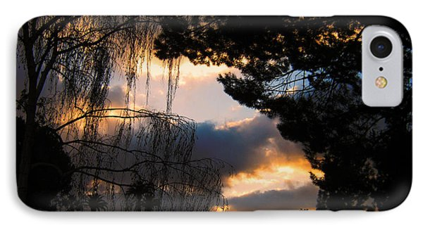 IPhone Case featuring the photograph Peek A Boo Sunset by Janice Westerberg