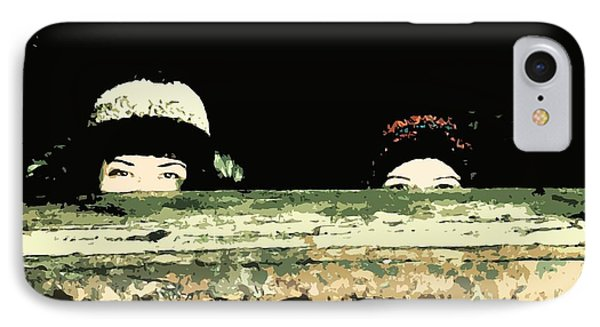 Peek-a-boo IPhone Case by Zinvolle Art