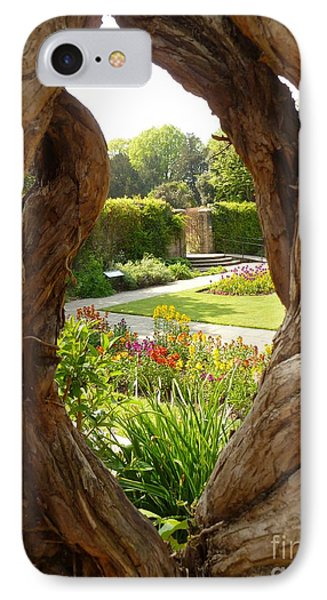 IPhone Case featuring the photograph Peek At The Garden by Vicki Spindler