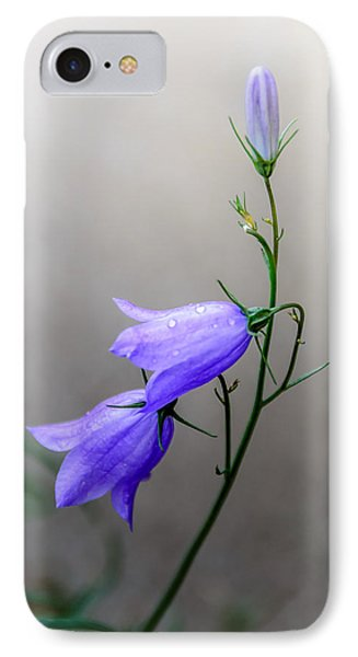 Blue Bells Peeking Through The Mist IPhone Case by Debra Martz