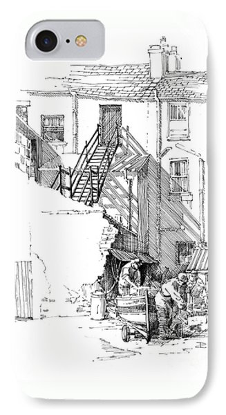 IPhone Case featuring the drawing Peel Back Street by Paul Davenport