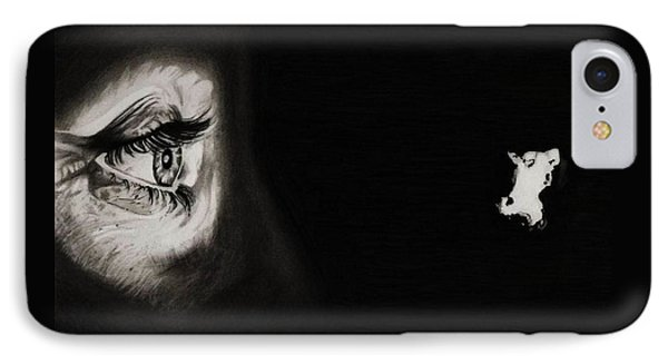 Peeping Tom - Psycho IPhone Case by Fred Larucci
