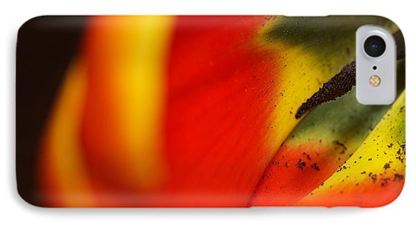 IPhone Case featuring the photograph Peering Into The Heart Of A Tulip by Lisa Knechtel