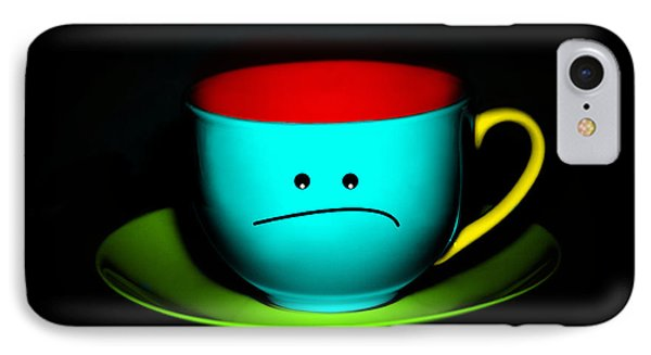 Peeved Colorful Cup And Saucer Phone Case by Natalie Kinnear