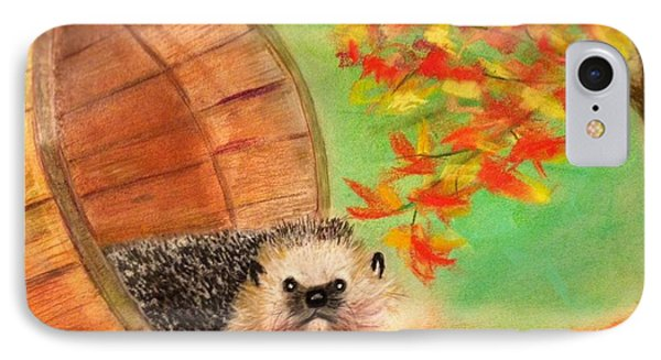 Peevish Porcupine IPhone Case by Renee Michelle Wenker