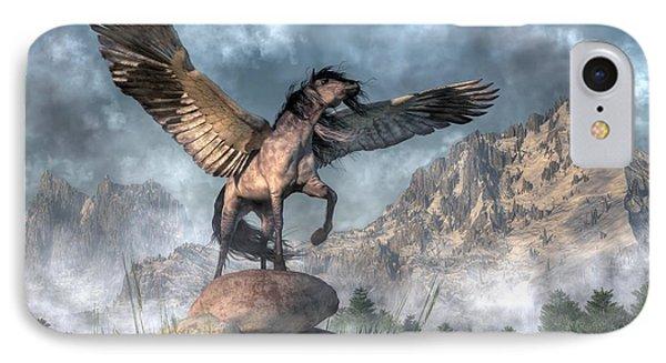 Pegasus IPhone Case by Daniel Eskridge