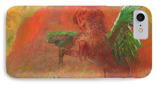 Pegasus Triumphant IPhone Case by Odilon Redon