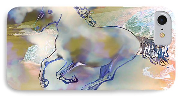 IPhone Case featuring the painting Pegasus by Ursula Freer