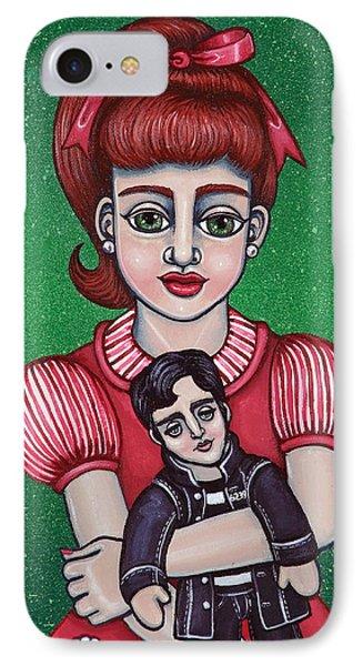 Peggy Sue Holding The King Phone Case by Victoria De Almeida