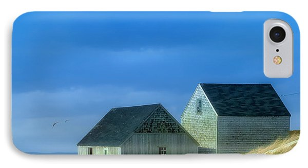 Peggy's Cove Fishing Shacks IPhone Case by Ken Morris