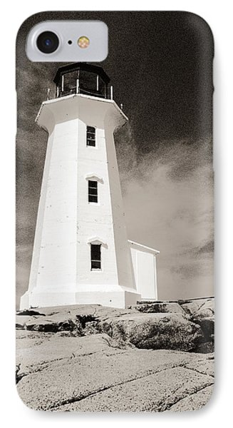 IPhone Case featuring the photograph Peggy's Cove Lighthouse by Arkady Kunysz