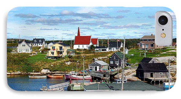 IPhone Case featuring the photograph Peggys Cove by Ron Haist
