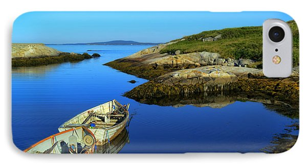Peggys Cove Row Boats IPhone Case by Ken Morris