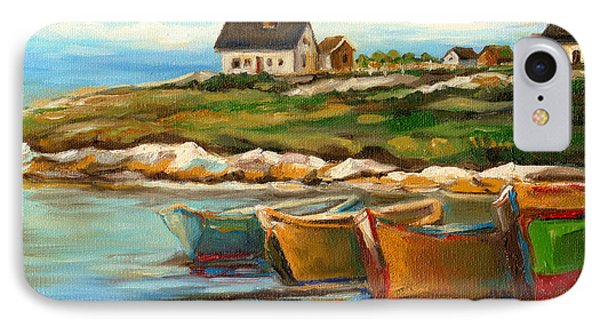 Peggys Cove With Fishing Boats Phone Case by Carole Spandau