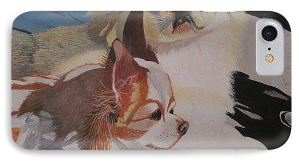 IPhone Case featuring the painting Peke And Chi by Hilda and Jose Garrancho