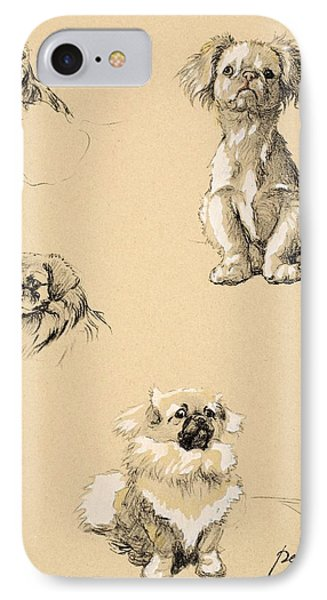 Pekes, 1930, Illustrations IPhone Case by Cecil Charles Windsor Aldin