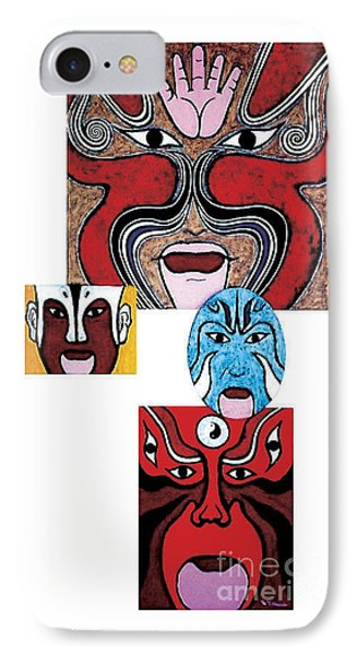 IPhone Case featuring the painting Peking Opera No.1 by Fei A