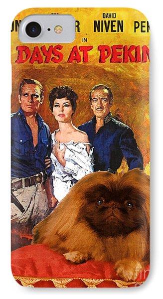 Pekingese Art - 55 Days In Peking Movie Poster IPhone Case by Sandra Sij