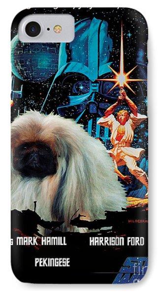 Pekingese Art - Star Wars Movie Poster IPhone Case by Sandra Sij