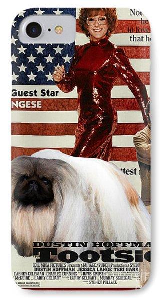 Pekingese Art - Tootsie Movie Poster IPhone Case by Sandra Sij