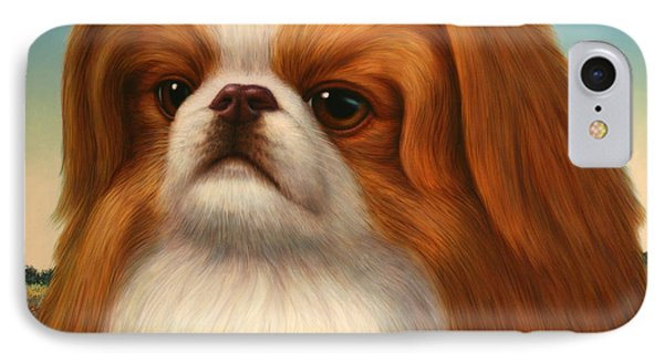 Pekingese Phone Case by James W Johnson