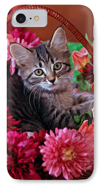 Pele In The Flowers IPhone Case by Kenny Francis
