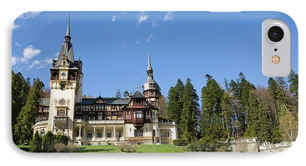 Peles Castle, Sinaia, Carpathian IPhone Case by Martin Zwick
