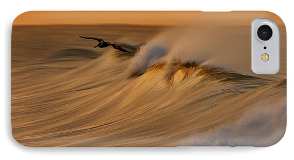IPhone Case featuring the photograph Pelican And Wave  Mg_6950 by David Orias