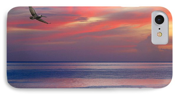 Pelican At Sunset IPhone Case by Mariarosa Rockefeller