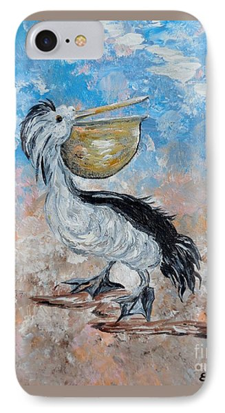 IPhone Case featuring the painting Pelican Beach Walk - Impressionist by Eloise Schneider