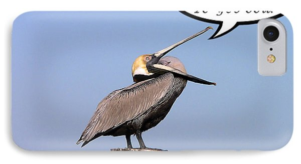 Pelican Birthday Card Phone Case by Al Powell Photography USA