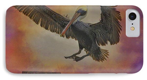 Pelican Grace Phone Case by Deborah Benoit