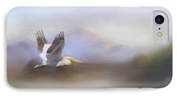 Pelican In Flight  IPhone Case by Betty  Pauwels