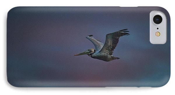 Pelican On The Wing IPhone Case by Bill Roberts