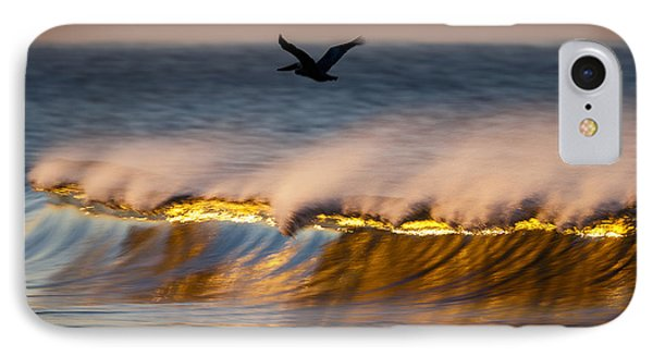 Pelican Over Wave  C6j9351 IPhone Case by David Orias