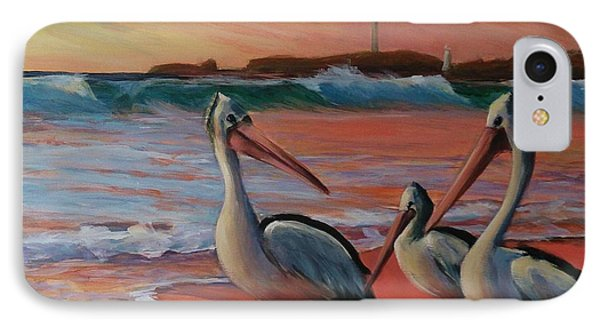 Pelican Sunset IPhone Case by Kathy  Karas