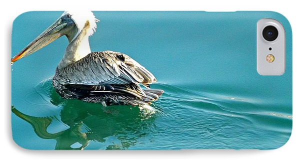 IPhone Case featuring the photograph Pelican Swimming by Clare Bevan