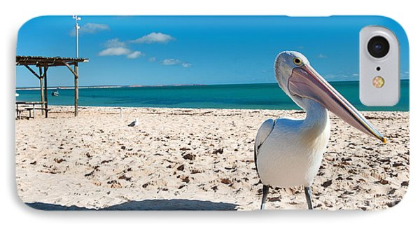 Pelican Under Blue Sky IPhone Case by Yew Kwang