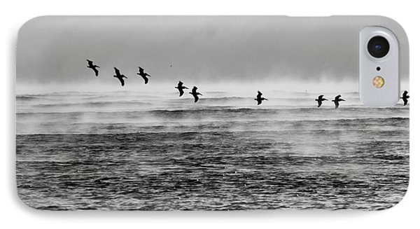 Pelicans In The Mist IPhone Case