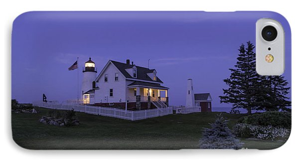 Pemaquid Point Light - Blue Hour IPhone Case by Patrick M Fennell