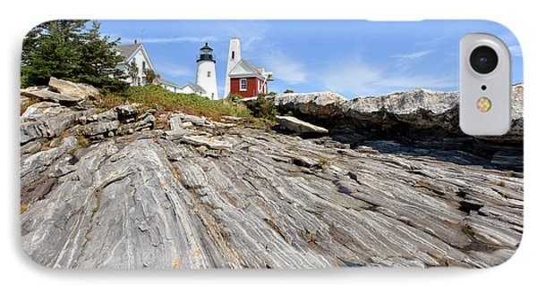 Pemaquid Point Lighthouse In Maine Phone Case by Olivier Le Queinec