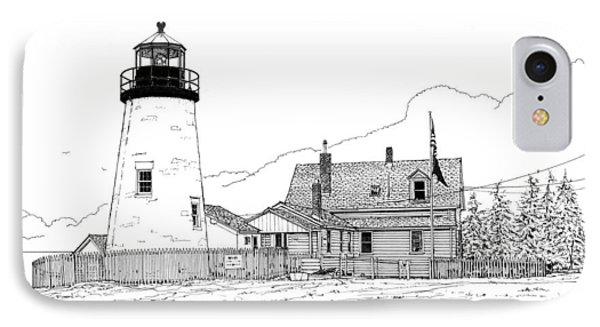 Pemaquid Point Lighthouse IPhone Case by Ira Shander