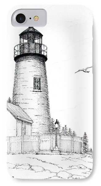 Pemaquid Point Lighthouse IPhone Case by Mariarosa Rockefeller