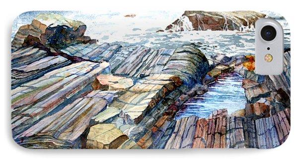 Pemaquid Rocks IPhone Case by Roger Rockefeller