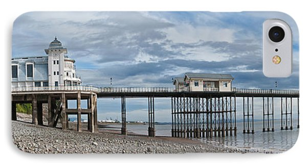Penarth Pier Panorama 1 IPhone Case by Steve Purnell
