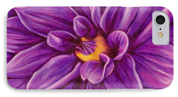 IPhone Case featuring the drawing Pencil Dahlia by Janice Dunbar
