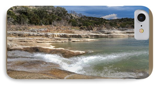 IPhone Case featuring the photograph Pendernales Falls Texas by Martin Konopacki