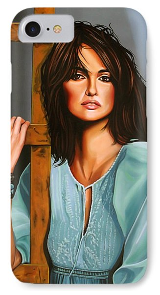 Penelope Cruz IPhone 7 Case by Paul Meijering