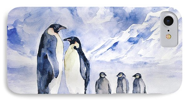 Penguin Family IPhone Case by Faruk Koksal